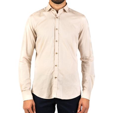 Robert Patterned Dress Shirt // Brown (S)