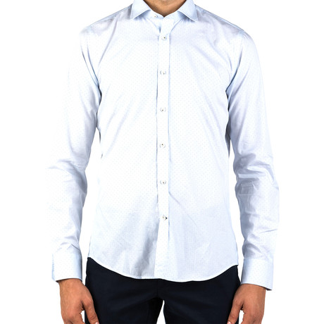 Michael Patterned Dress Shirt // Light Blue (S)