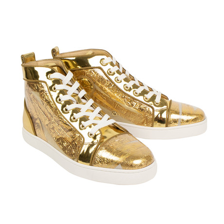 Louis Orlato Ruben Hi-Top Sneakers // Gold (Euro: 39)