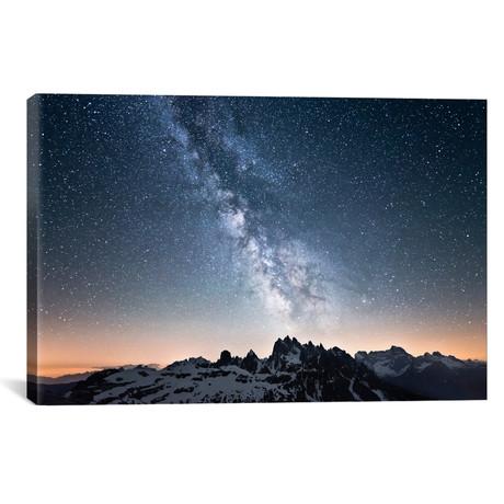 """Dolomites With Milky Way (26""""W x 18""""H x 0.75""""D)"""