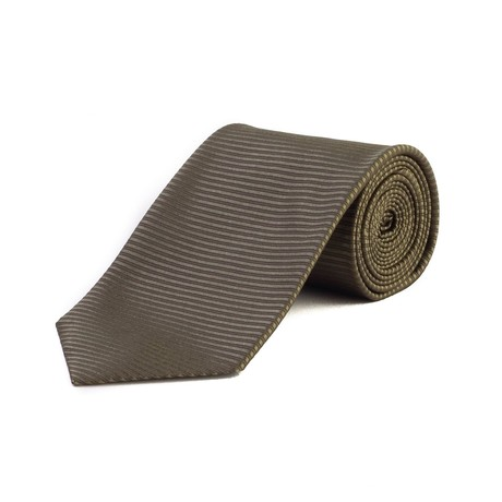 Tom Ford // Silk Textured Striped Tie // Green