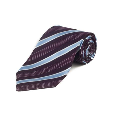 Ermenegildo Zegna // Silk Textured Stripe Tie // Maroon