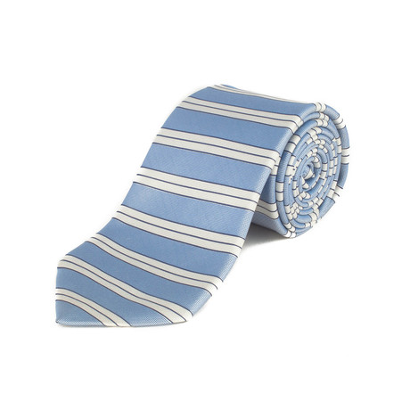 Ermenegildo Zegna // Silk Striped Tie // Light Blue