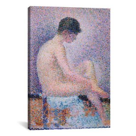 "Model In Profile // Georges Seurat // 1886 (18""W x 26""H x 0.75""D)"