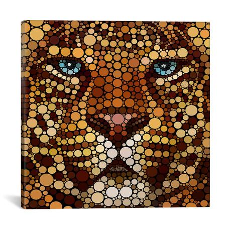 """Leopard // Ben Heine (18""""W x 18""""H x 0.75""""D)"""