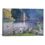"The Lake in the Bois de Boulogne // Henri-Edmond Cross // 1899 (26""W x 18""H x 0.75""D)"