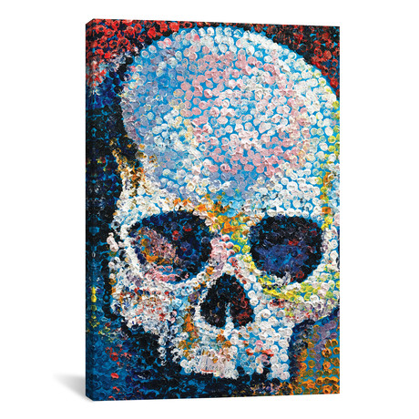 "Pointillism Skull // Michael Creese (18""W x 26""H x 0.75""D)"