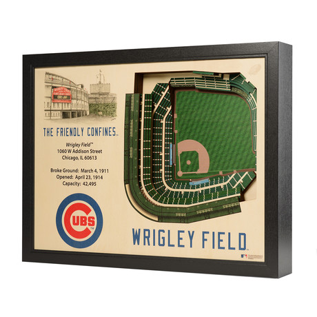Chicago Cubs // Wrigley Field // 25 Layer Wall Art