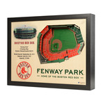 Boston Red Sox // Fenway Park // 25 Layer Wall Art