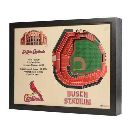 St. Louis Cardinals // Busch Stadium // 25 Layer Wall Art