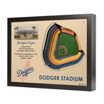 Los Angeles Dodgers // Dodger Stadium // 25 Layer Wall Art