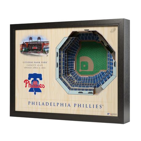 Philadelphia Phillies // Citizens Bank Park Wall Art (5-Layer)