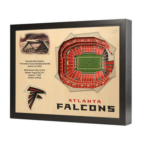 Atlanta Falcons // Mercedes-Benz Stadium (5 Layers)