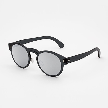 Duo Lens Paloma Sunglasses // Silver + Black