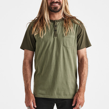 Destroyer Short-Sleeve Knit // Army (S)