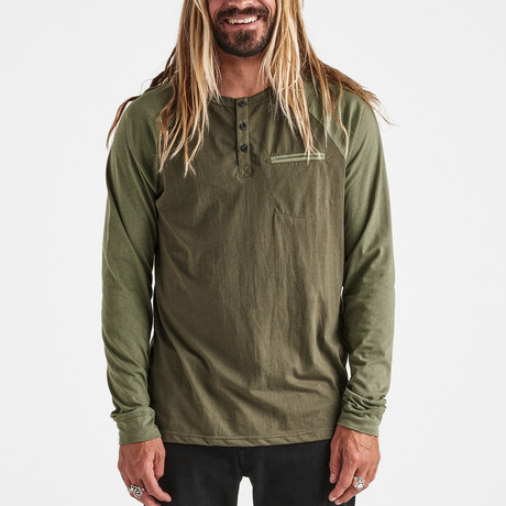 Eliminator Long-Sleeve Knit Top // Army (S)