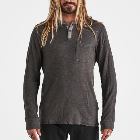 Dirt Bag Long-Sleeve Thermal Knit // Charcoal (S)