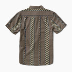 La Parilla Short-Sleeve Woven Top // Stone (M)