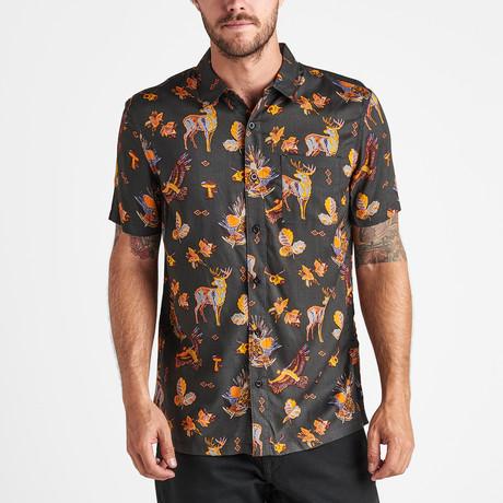Ranch Life Short-Sleeve Woven Shirt  // Charcoal (S)