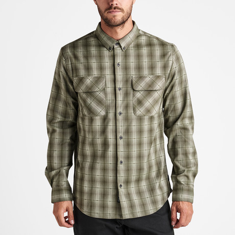 Alpinist Long-Sleeve Flannel // Military (S)
