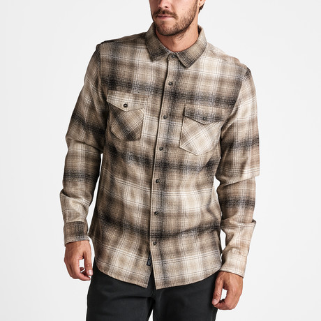 Resilience Flannel Woven Top // Stone (S)