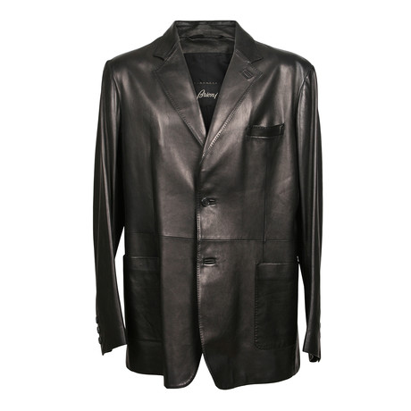Leather Blazer // Black (XS)