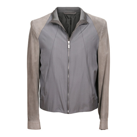 Two Tone Bomber Jacket // Gray (XS)