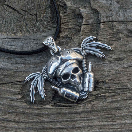 Pirate with Rum Pendant