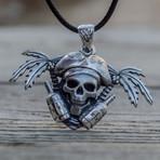 Pirate with Rum Pendant