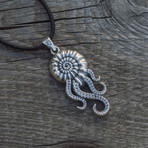 Octopus in Shell Pendant