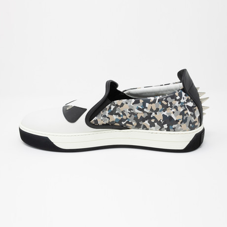 Bag Bugs Slip-On Sneakers // White + Black + Multicolor (US: 5)