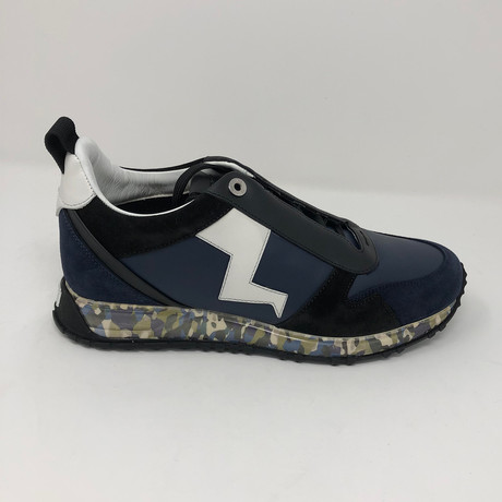 Lightning Bolt Appliqué Sneakers // Navy (US: 5)