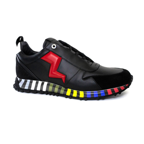 Lightning Bolt Appliqué Sneakers // Multicolor (US: 5)