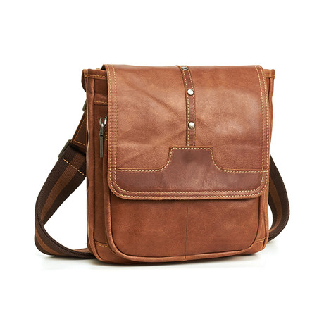 Shoulder Bag // Brown // Square Flap
