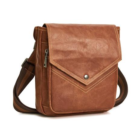 Shoulder Bag // Brown // Triangle Flap