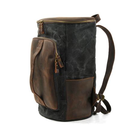 Zip-Top Canvas Backpack (Green)