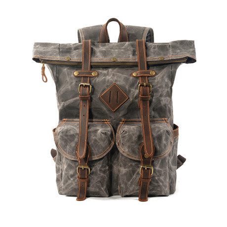 Canvas Backpack (Coffee)