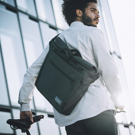Transit Line // Roll Top Messenger Bag