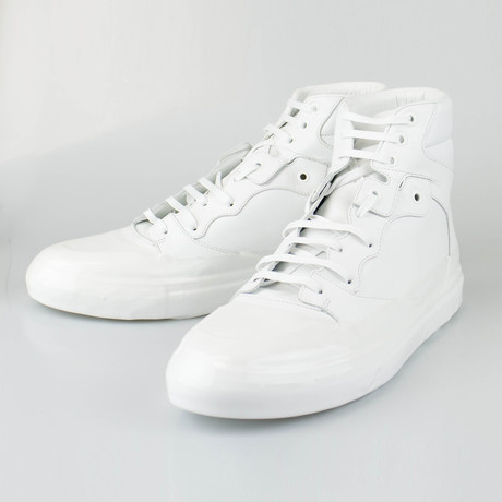 Balenciaga // Leather High-Top Sneakers // White (US: 6)