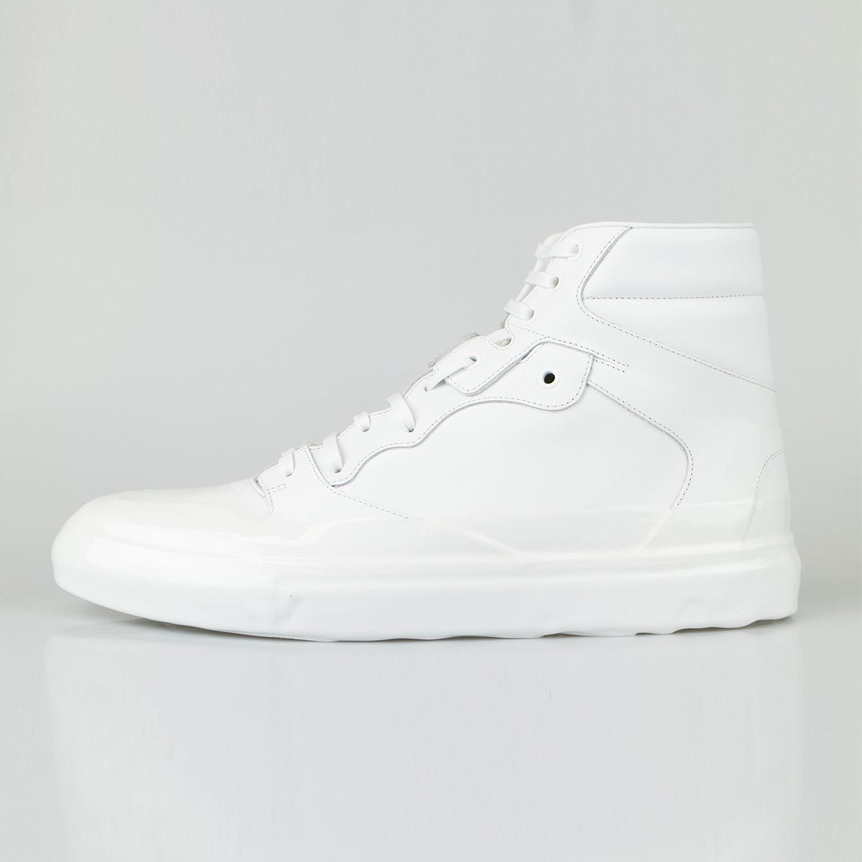 Balenciaga // Leather High-Top Sneakers // White (US: 13 ...