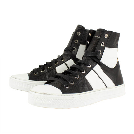 Amiri // Sunset Leather Sneakers // Black + White (US: 6)