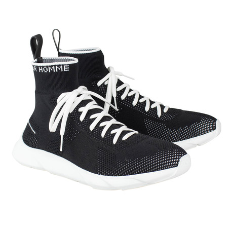 Dior Homme //  Knit Lace Up B21 Sock Sneakers // Black (US: 6)