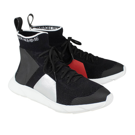 Dior Homme // Knit Color Block Lace Up B21 Sock Sneakers // Black (US: 6)