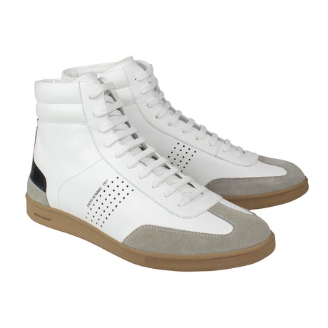 Dior Homme // Leather B01 Mid-Top Trainer Sneakers // White (US: 6)