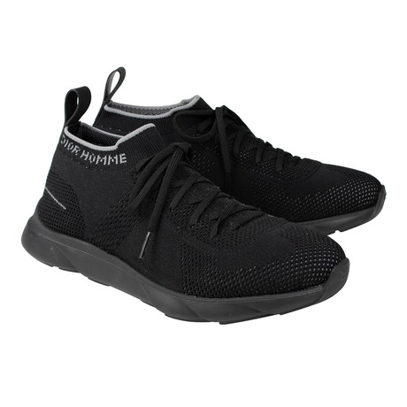 Dior Homme // Technical Knit Lace Up Sneakers // Black (US: 6)
