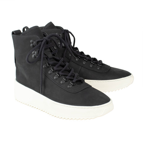 Fear Of God // Nubuck Lace-Up Hiking Sneakers // Black (US: 6)