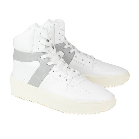 Fear Of God // Leather Basketball High-Top Sneakers // White (US: 6)