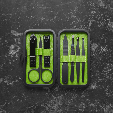 Luxury Manicure Set // Lime Green (7 Piece Set)