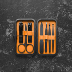 Luxury Manicure Set // Orange (7 Piece Set)