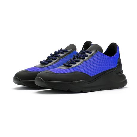 Soho Grit // Dean Sneaker // Black + Blue (Euro: 36)
